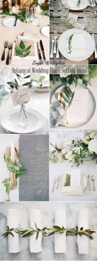 25+ Best Ideas about Wedding Place Settings on Pinterest ...