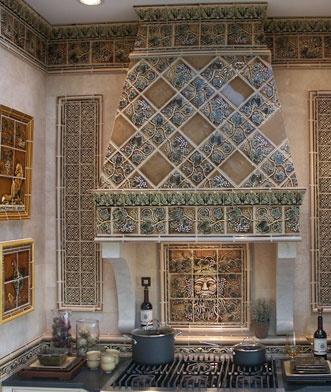Tiled range hood  Kitchen Range HoodsMantelsArches