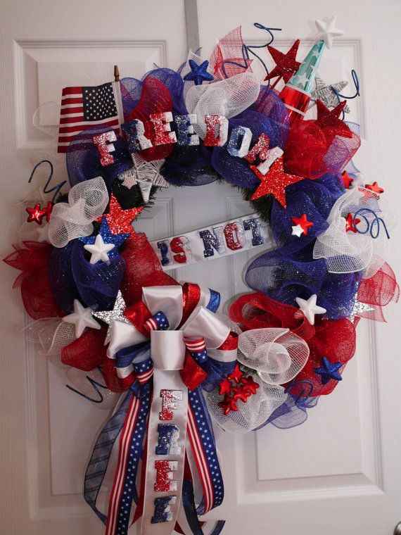 100 Best Images About 4th Of July Wreaths On Pinterest