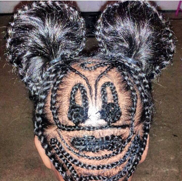 Mickey Mouse Braid Style Hair Pinterest Mice Style