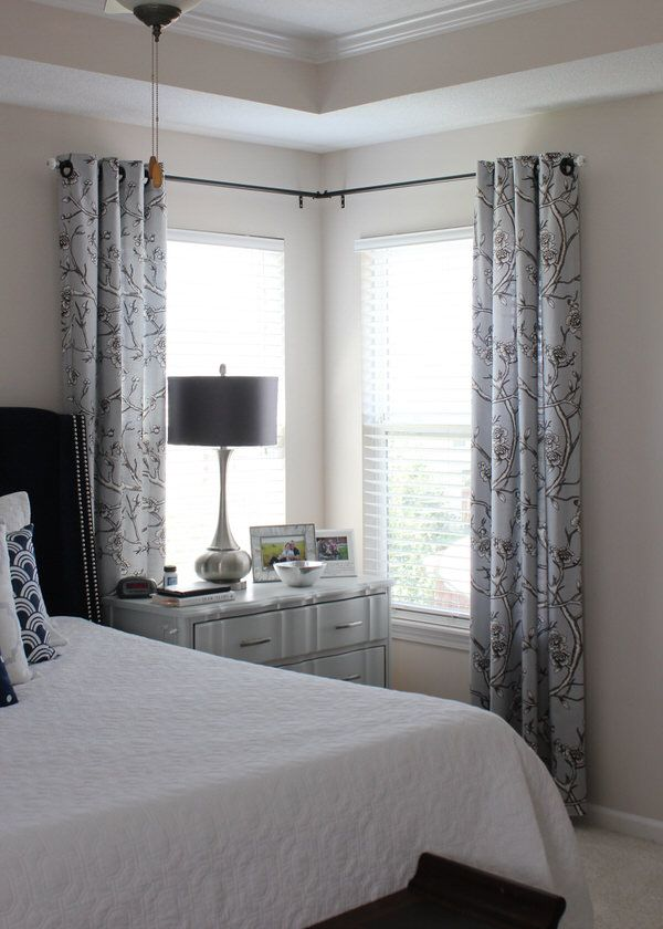 A simple 1 fix to make basic curtain rods into a corner