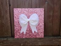 Pink sequence, Bow, Wall hanging, Wall decor, Decoration ...