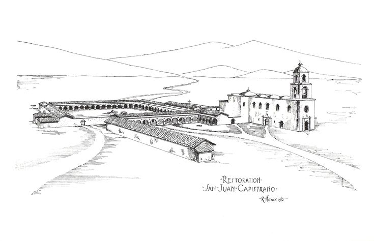 Sketch of Mission San Juan Capistrano Duncan uses as a