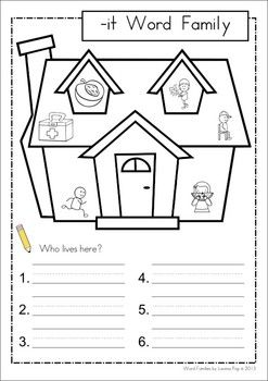 IT Word Family Games-Activities-Worksheets {FREE}. 77