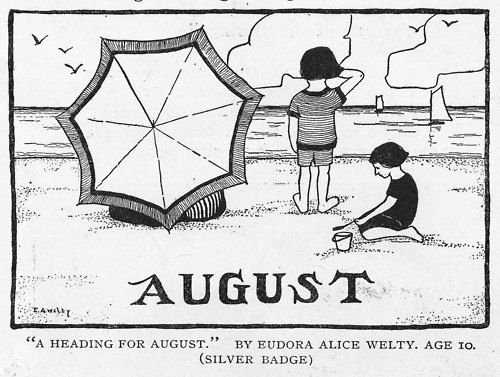 A 1920 drawing by 10-year-old Eudora Welty, future winner