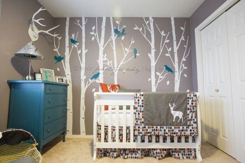 NURSERY Modern Woodland Nursery Boys Deer And Baby Boy