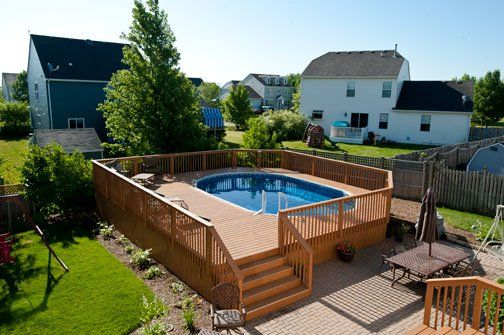 In this board we have a variety of custom wood decks built