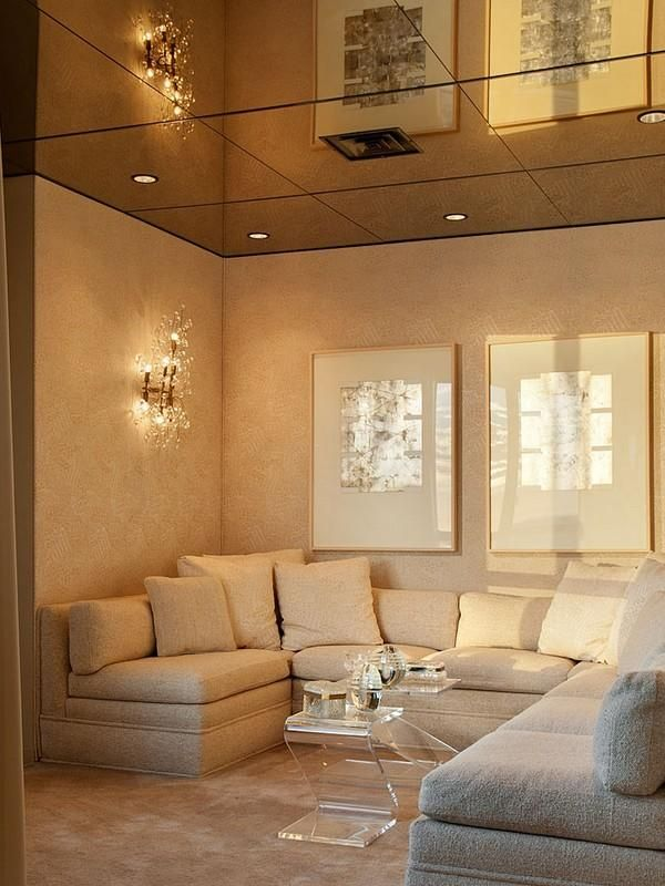 Cream Cloud Mirrored Ceiling Style Your Room
