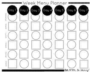 17 Best ideas about Menu Planning Templates on Pinterest