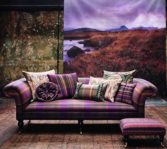 cushion ideas for red leather sofa chocolate brown best 25+ tartan decor on pinterest