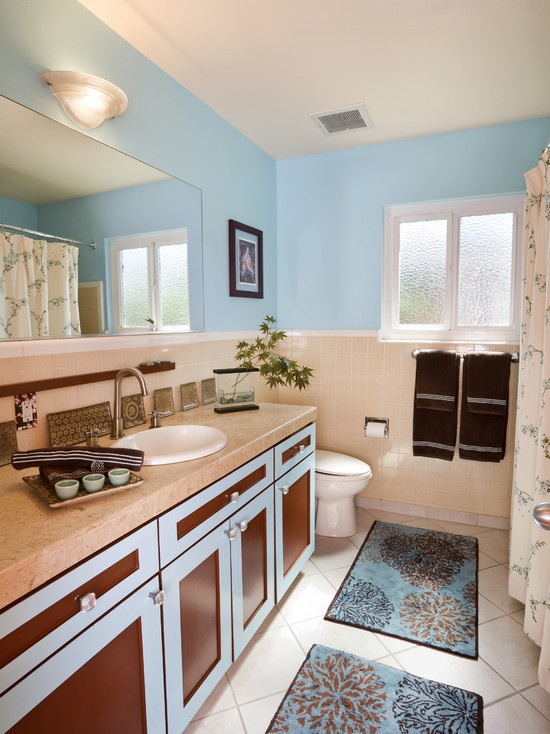 17 Best Images About Blue Brown Beige Bathroom Designs On