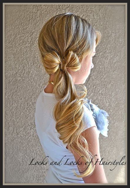How to:  Clothes-line Bow  This hairstyle reminds me of my amazing penecostal buddy! This is something she would probably wear. SO