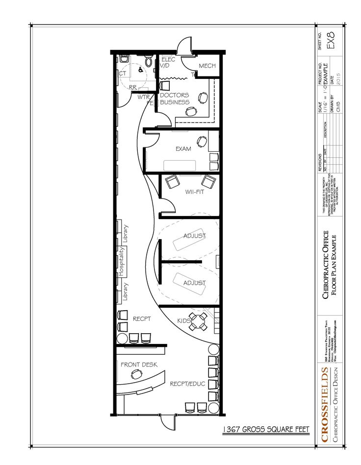 Chiropractic Floor Plan Semi-open Adjusting Retail start