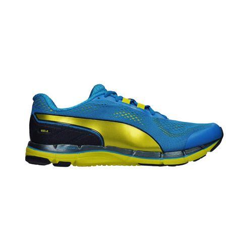 chaussures running puma faas homme bleu jaune