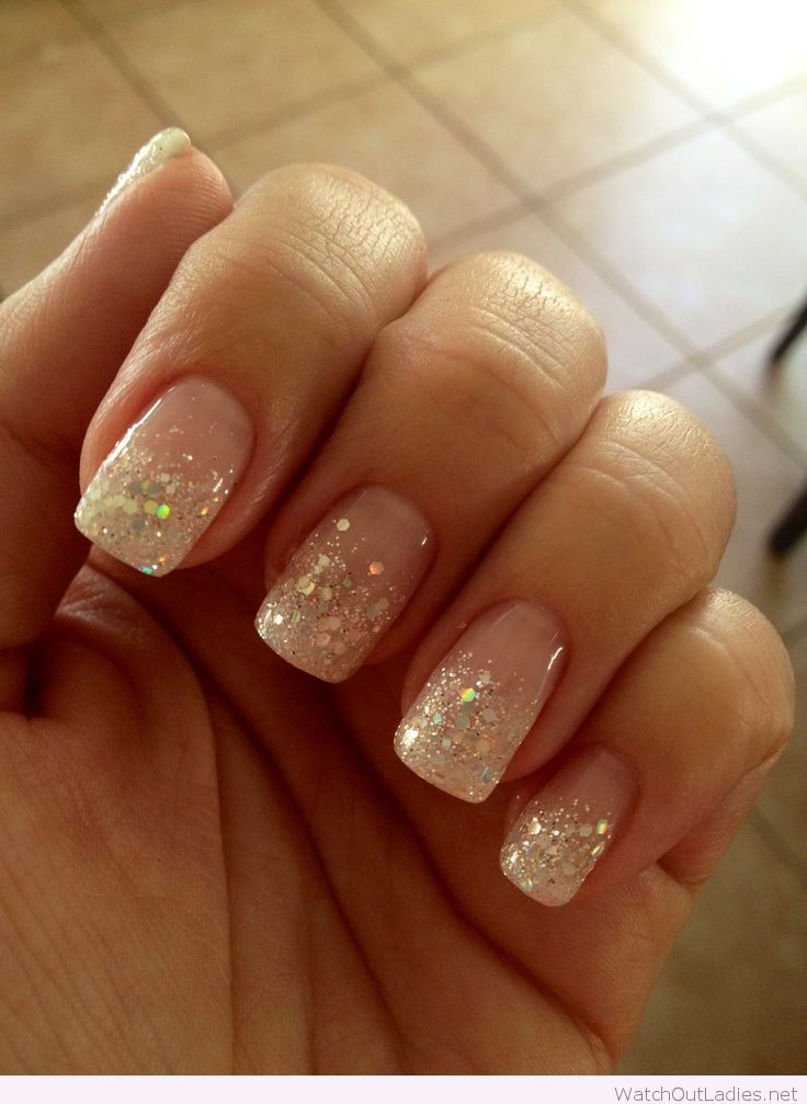 25+ Best Ideas about Glitter French Manicure on Pinterest