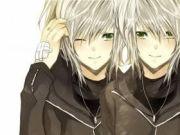 twin anime boys art