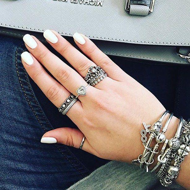 Best 25 Pandora rings stacked ideas on Pinterest