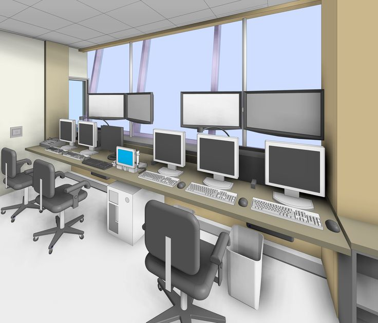 An MRI Control Room 3D Revit medical equipment families