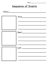 Sequencing Graphic Organizer For Second Grade - sequencing ...