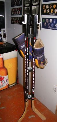 Build A Hockey Stick Coat Rack