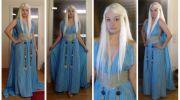 daenerys targaryen cosplay aigue-marine