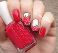 25+ best ideas about Rose nail art on Pinterest | Rose ...