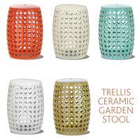 Trellis Ceramic Garden Stool | Gardens, Ceramics and ...