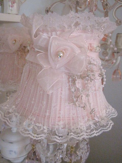 Lace  pearls Lampshade  Flickr  Photo Sharing  Lovely