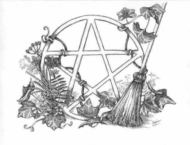 1000+ images about Pagan Coloring pages on Pinterest