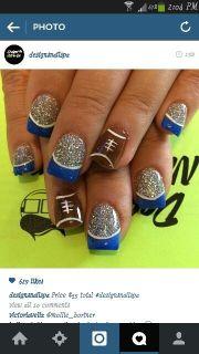ideas football nails