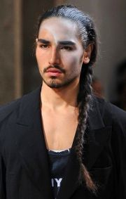 braided side ponytail. willy cartier