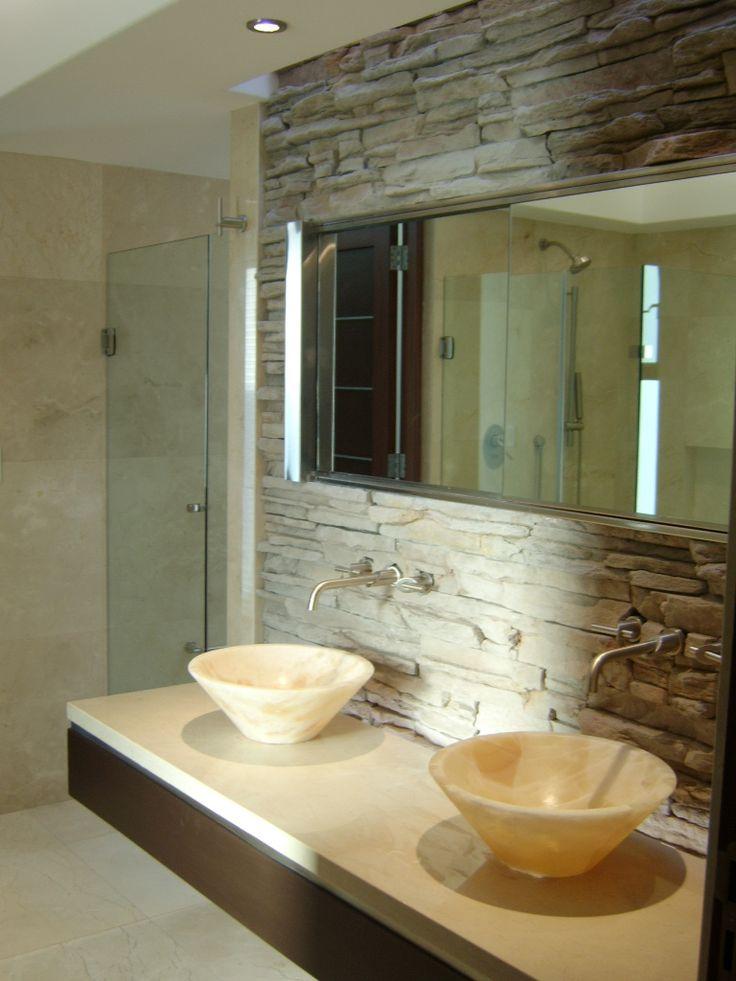 Antebao  marmol bacha con madera  Ideas para el hogar
