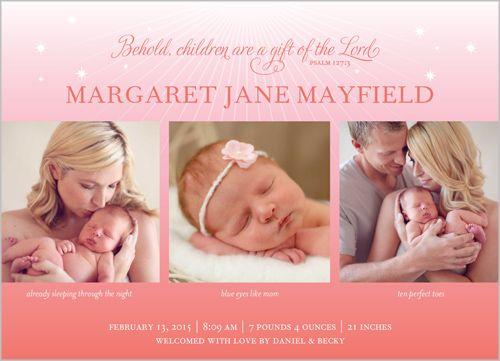 baby girl birth announcements wording