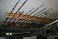 ceiling mounted rod racks
