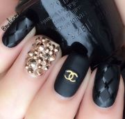 chanel nail art ideas