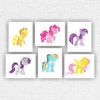 My little pony wall Decor Art, Set of 6, 8x10, Disney ...