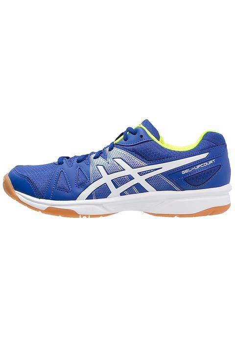 gel upcourt chaussures de handball blue white safety yellow