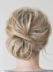 loose simple updos medium hair