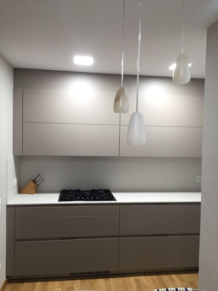 colorful kitchen appliances skylights cocina santos modelo intra color gris arena con encimera ...
