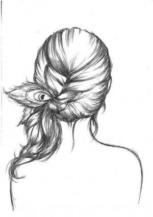 drawing drawings draw easy pretty sketch sketches simple hairstyles hipster cool hairstyle woman line indie side
