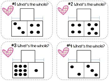 Addition & Subtraction Task Cards using Part-Part-Whole