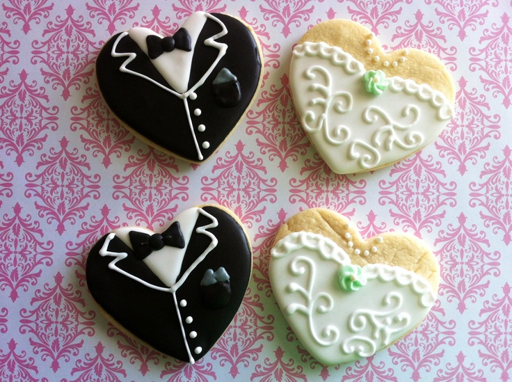 33 Best Images About Wedding Cookies On Pinterest