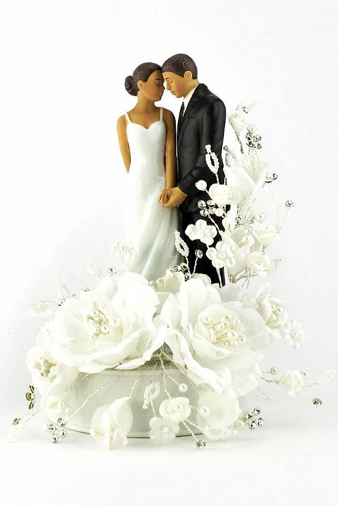 Vintage African American Cake Topper  Wedding Cakes and