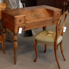 Dining Room Chair Cushion Wingback Antique Spinet Desk Hide Keyboard, Slanted Writing Surface | Pinterest ...