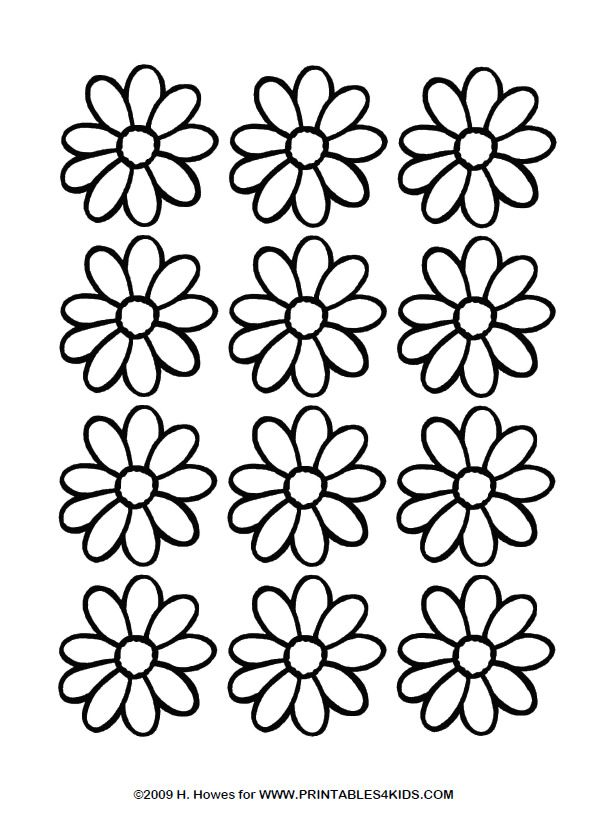 Girl Scout Daisy Petal Respect Authority Sketch Coloring Page