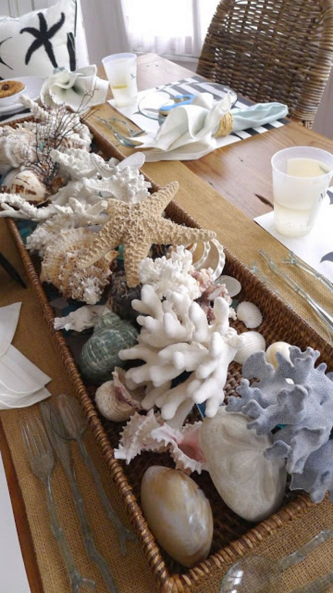 25 best ideas about Seashell Centerpieces on Pinterest  Beach table decorations Beach