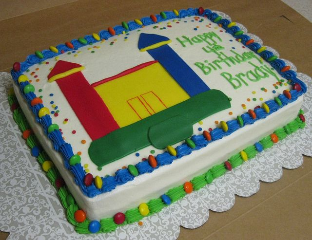 Bounce House Birthday Cake Ideas House And Home Design