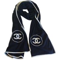 Chanel Cashmere Silk Scarf CHANEL (21,500 THB) liked on