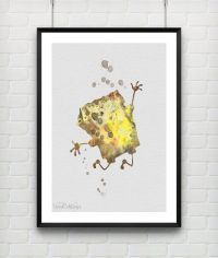 SpongeBob Print, Spongebob Squarepants Watercolor Nursery ...