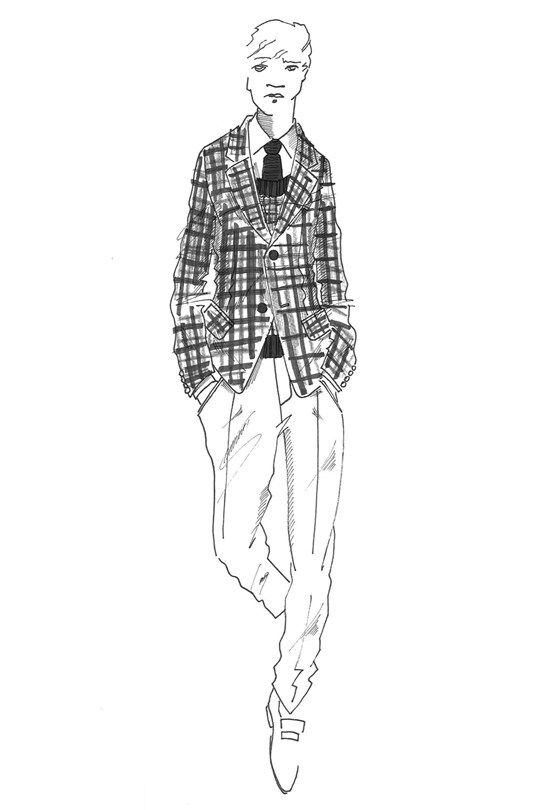 172 best images about Men fashion illustrations on